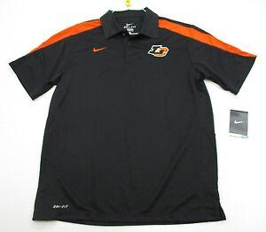 new-NIKE-T5519-Men-039-s-Size-M-Athletic-DRI-FIT-GOLF-Short-Sleeve-Black-Polo-Shirt