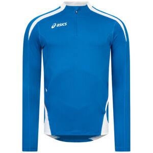 ASICS Crew Sweat Ben Herren Fitness Oberteil Lauf Sweatshirt T233Z6 blau neu