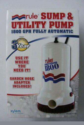 A53S Rule 110 Volt Automatic Pump 1800 GPH Submersible
