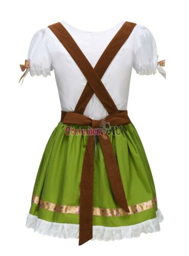 Ladies Beer Maid Costume Oktoberfest Womens Fancy Dress Wench German Heidi Girl