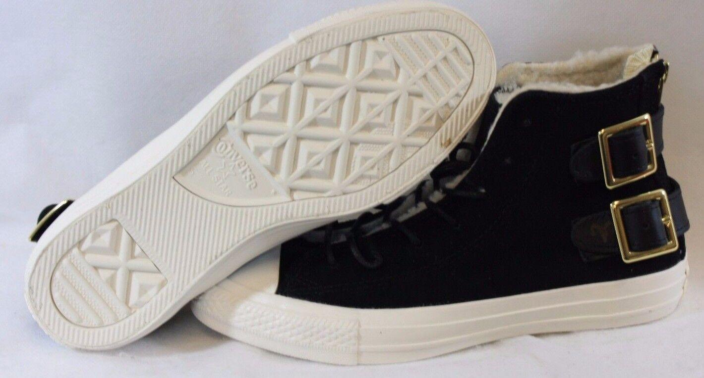 NEW Mens CONVERSE 148002C Chuck Taylor All Star Back Zip Hi Black Sneakers shoes