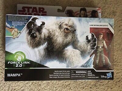 """Star Wars Force Link 2.0 Wampa /& Luke Skywalker Hoth 3.75/"""" Figure New in Box"""