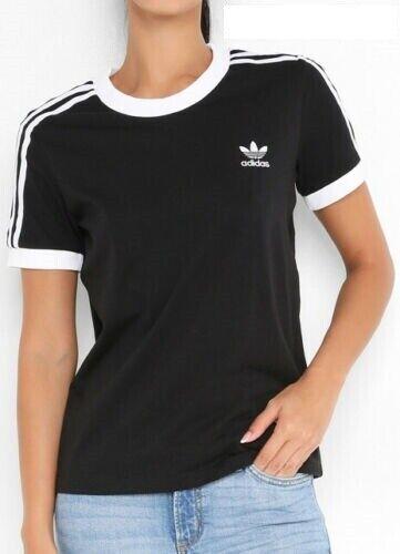 T-shirt Adidas Originals Ed7482 Str Tee Black Moda Donna Fashion Life Style