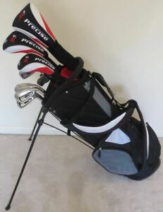 NEW-Mens-Golf-Set-Complete-Driver-Wood-Hybrid-Irons-Putter-Clubs-Graphite