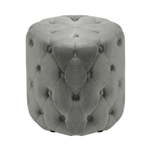 Pouffe Foot Rest Ottoman Living Room Round Sofa Footstool Velvet Tufted Seat XL