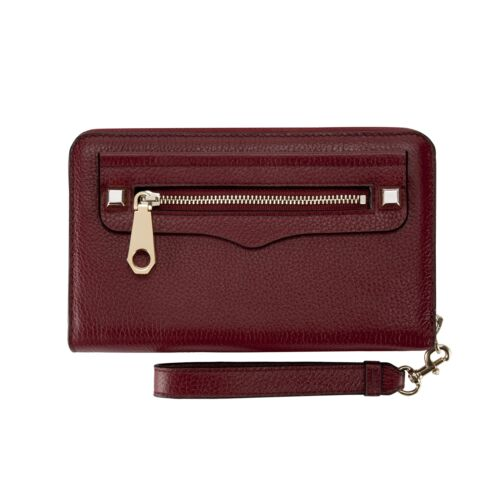 Rebecca Minkoff Regan Zip Wristlet-Iphone Next Deep Red Leather