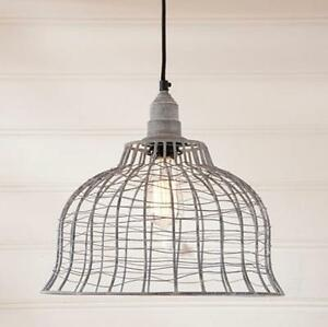 VINTAGE WIRE CAGE PENDANT HANGING Light/FARMHOUSE, COUNTRY LIGHT ...