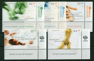 Bund-2382-2386-Eckrand-Satz-postfrisch-Sport-2004-BRD-Ecke-4-MNH