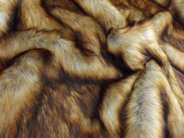 Super Luxury Faux Fur Fabric Material - LONG PILE REYNARD FOX