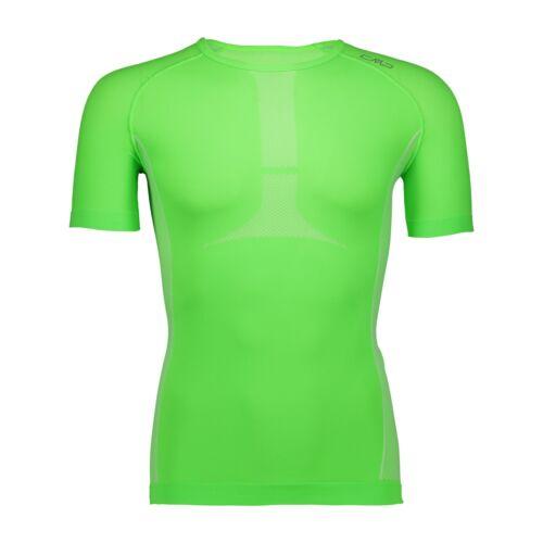 CMP Laufshirt Shirt Man Trail T-Shirt grün atmungsaktiv elastisch Unifarben