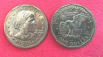 SBA 9 COINS 1979 1980 1981 PDS SUSAN B ANTHONY DOLLAR UNC