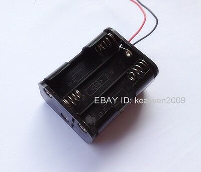 2PCS New 6X AA battery holder battery case DC 9V battery box with wire lead