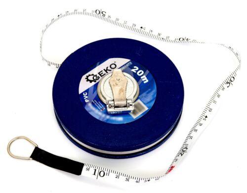 Mètre 20 m Rollbandmaß MASSBAND fiberglasmaß rollmeter avec manivelle 01472