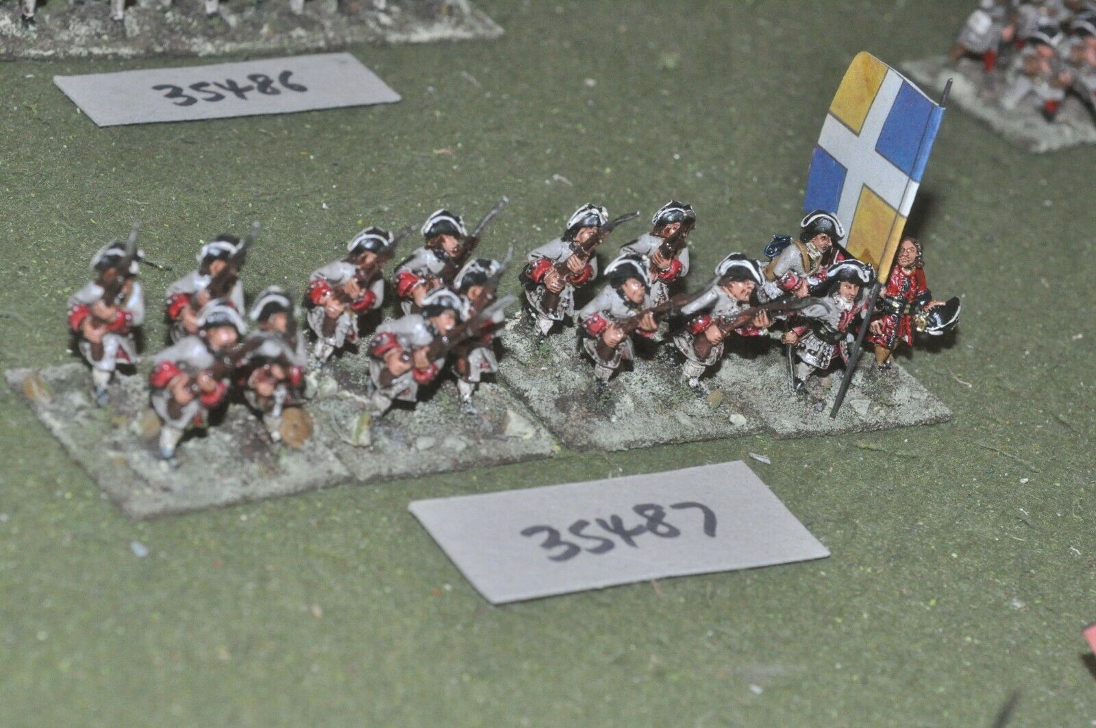 25mm marlburian   french - regiment 16 figures - inf (35487)