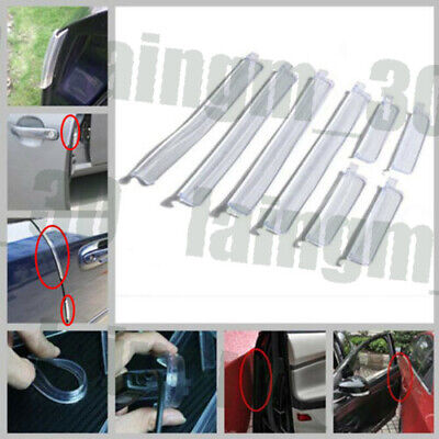 8Pcs Soft Car Door Edge Protector Guard Anti-scratch Rub Strip Bumper New