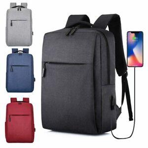 15.6 Inch Laptop Usb Backpack School Bag Rucksack Anti Theft Men Backbag Travel