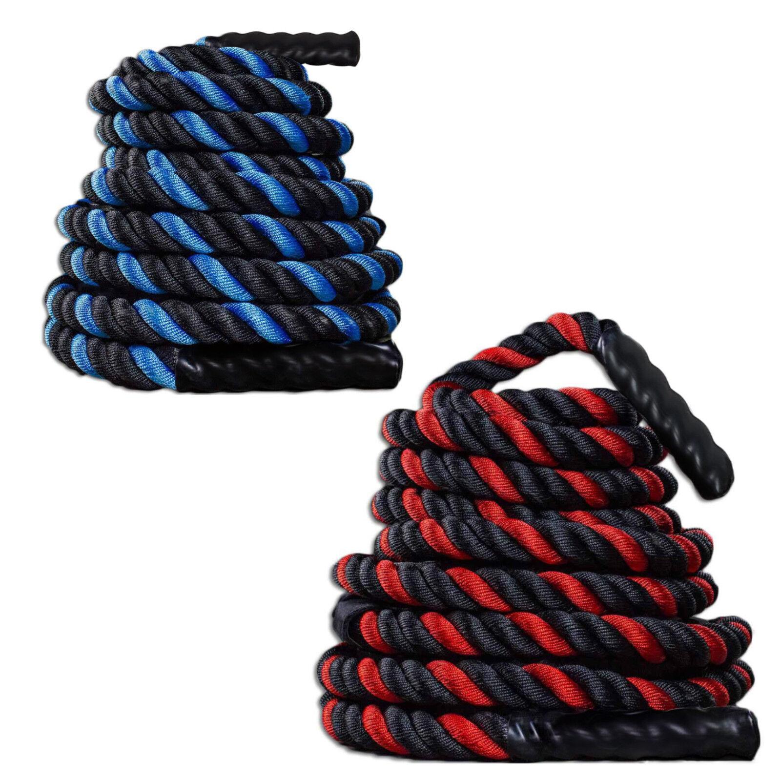 1.5 -2  30FT Poly Dacron Battle Rope Exercise Strength Training Undulation