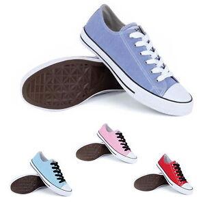 5e364f4d9529e Chargement de l image en cours Femme-classics-toile-chaussures-lacets-plage- chaussures-bateau-