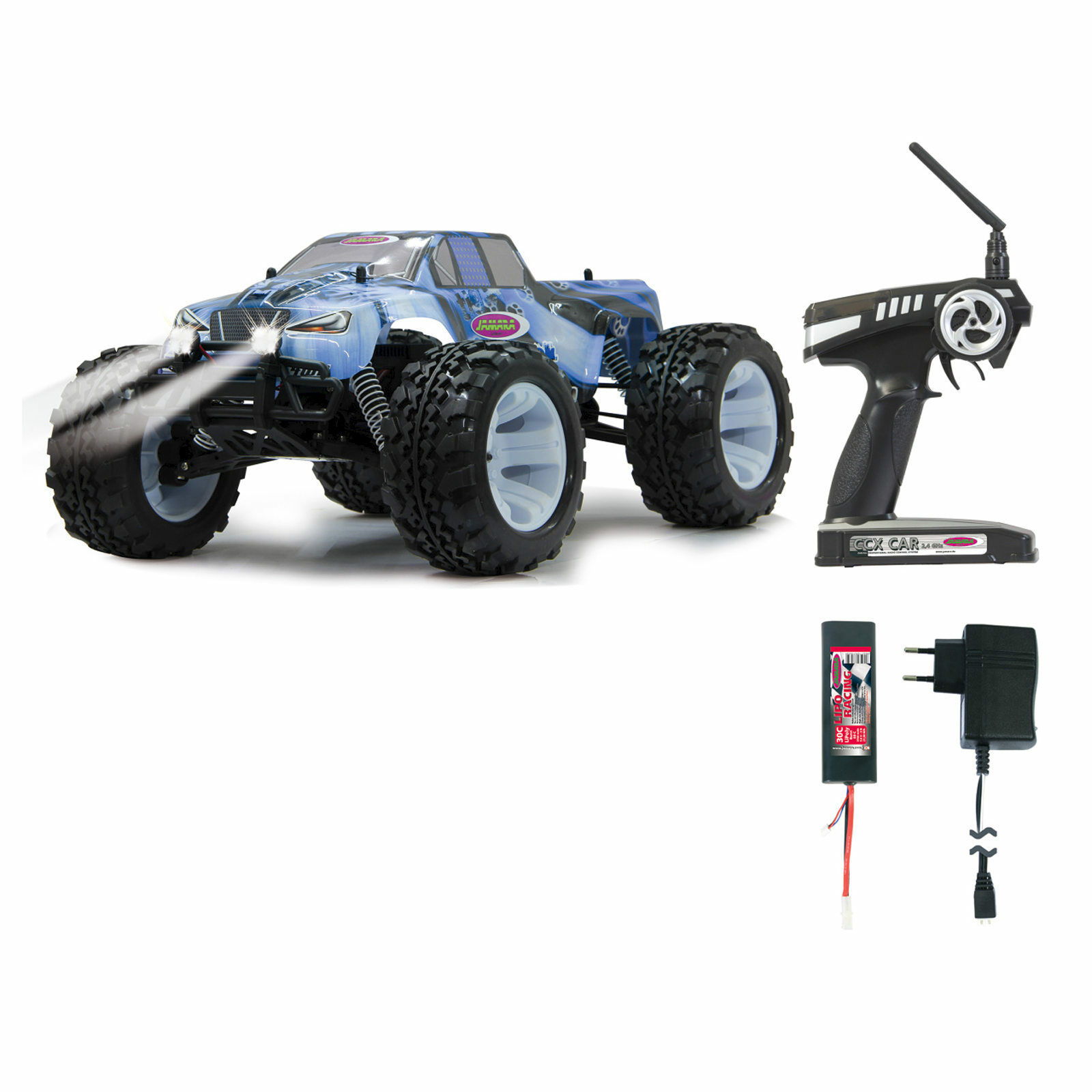Jamara Tiger Ice  BL 4WD 1:10 LED Lipo 053362