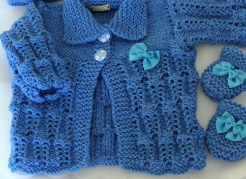 Baby Knitting Pattern DK #78 TO KNIT Girls or Reborn Dolls Matinee Set Aithwen