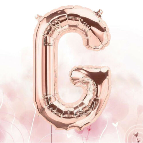 2x Rose Gold Alphabet Letters Foil Balloons Wedding Birthday Party Decorations A