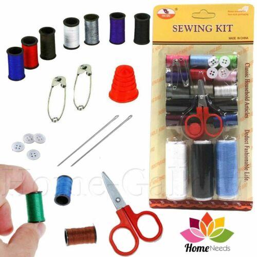 Kit de costura portátil de viaje pequeña casa de 28 Piezas Estuche Juego de tijera de aguja de hilo