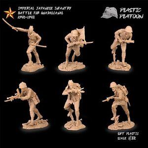 Plastique peloton les soldats japonais WW2 Toy Soldiers 1:32 NEW RELEASE Set # 1