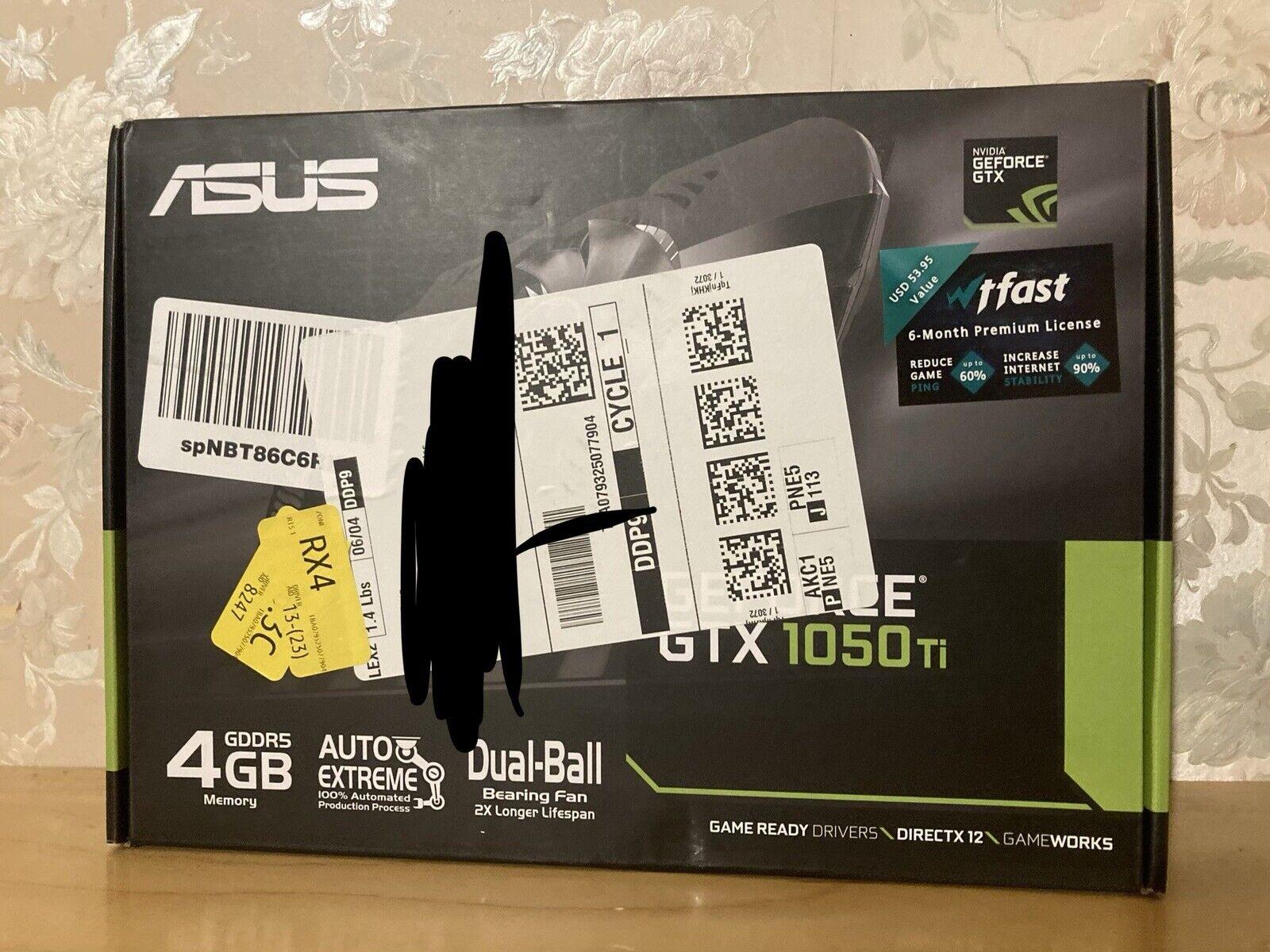 ASUS GeForce GTX 1050 Ti 4GB Phoenix Fan Edition DVI-D HDMI DP 1.4 Gaming Graphi