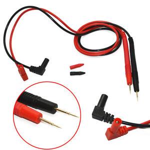 1Pair-90cm-Digital-Multimeter-Test-Lead-Probe-Cable-SMD-SMT-Needle-Tip-10A-1000V