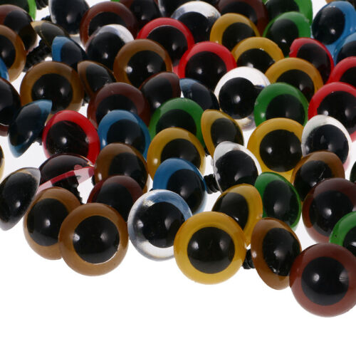 100pcs 6-20mm Mix Color Plastic Safety Eyes For Making Soft Toy Bear Animal Doll