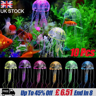 Artificial Coral Aquarium Fish Tank GLOW IN THE DARK Decor Ornaments
