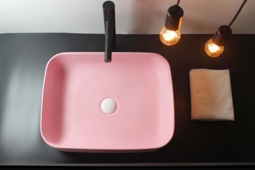 Bathroom Sinks Ceramic Wash Basin Countertop Bathroom Sinks With Drainer Matte Pink Home Garden