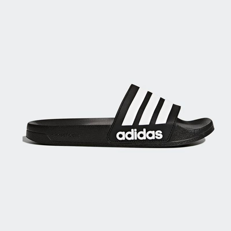 New Adidas Mens ADILETTE SHOWER AQ1701 BLACK  WHITE Cloud Foam US M 6 - 10 TAKSE