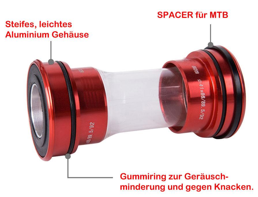 ABEC-5 Keramik Tretlager MTB Rennrad Rennrad Rennrad BB86+90+92 Shimano Pressfit 41 Kurbel 24mm  | Ausreichende Versorgung  aef426
