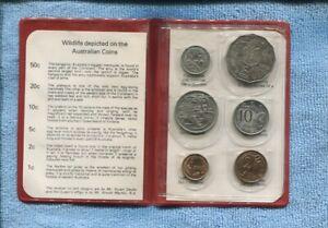 1978 Royal Australian Mint  Coin Set in Red original Folder  T-71