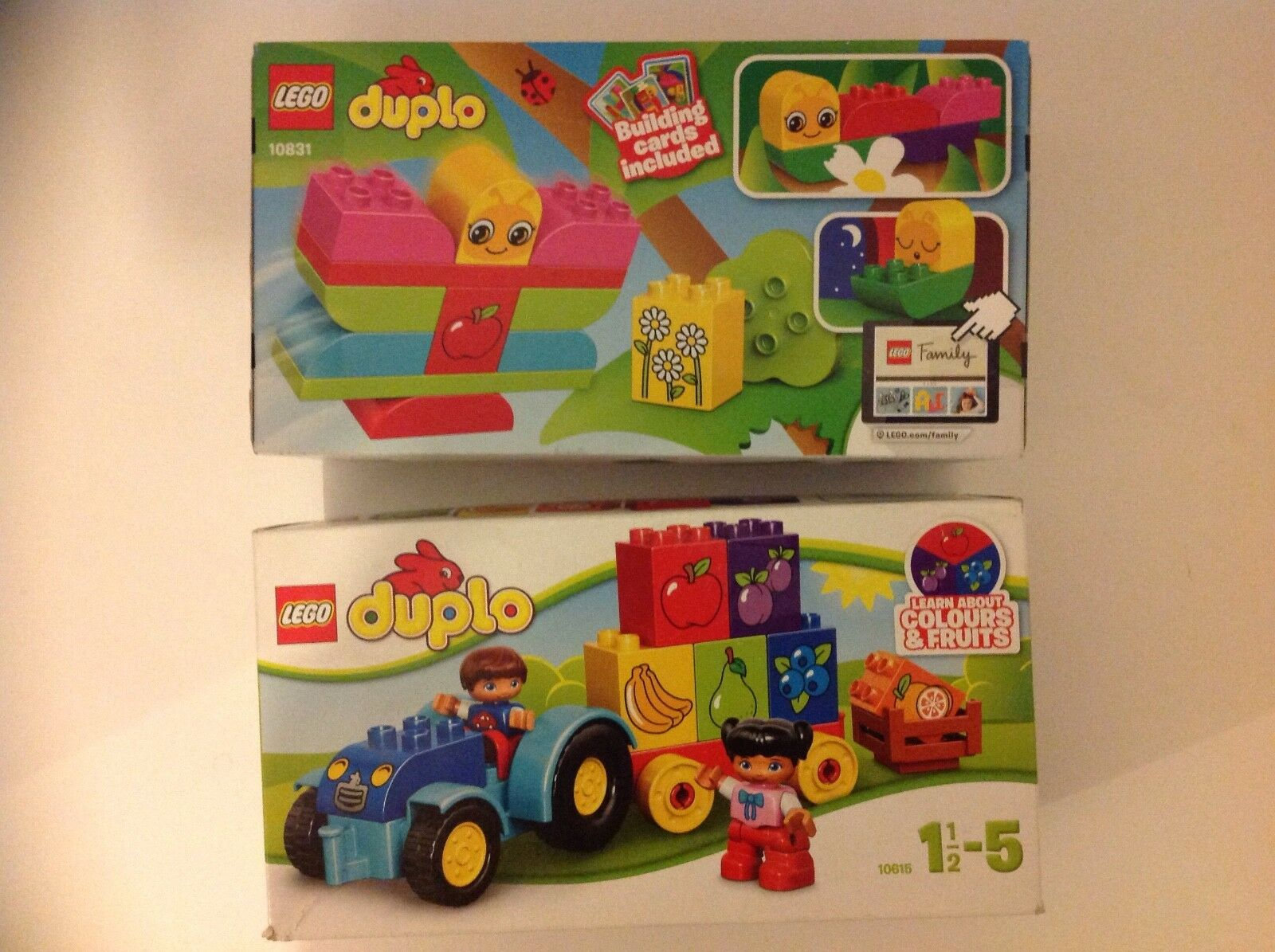 2 NEW LEGO DUPLO Sets My First Tractor 10615 & My First Caterpillar 10831