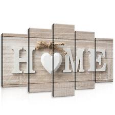 CANVAS Wandbild Leinwandbild Bild Kunst Haus Holz Home Bretter Herz 3FX10963S17