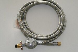 "Weber Q BBQ to LPG gas bottle POL x 3//8/"" SAE Stainless Steel hose 3m Long Hose"