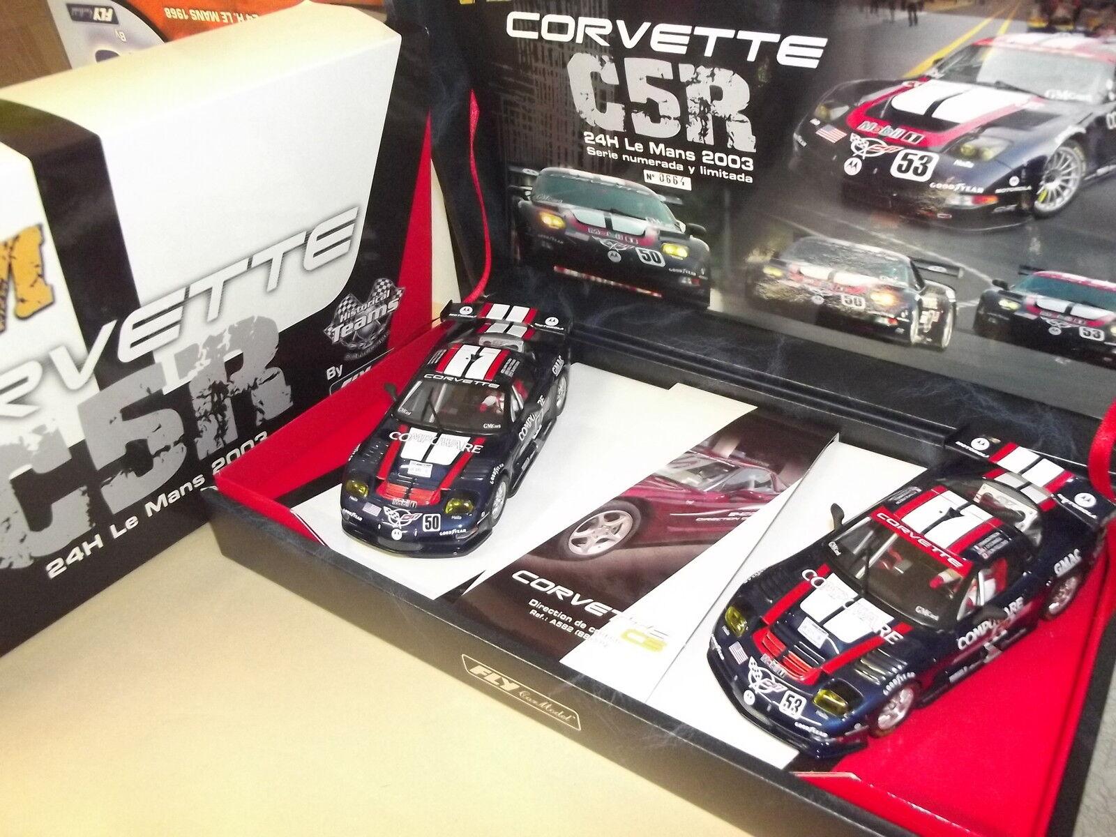 TEAM 6 CORVETTE-C5R-24K LE MANS 2003-96021-HISTORICAL-FLY-CAR--SLOT-1 32-B7