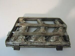 ANTIQUE TRIPLE EASTER BUNNY 3 RABBIT CHOCOLATE CANDY MOLD GERMAN OLD VINTAGE