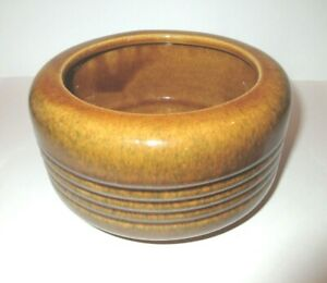 Haeger-USA-Mid-Century-Modern-Pottery-6-034-Round-Planter-Variegated-Gold-Brown