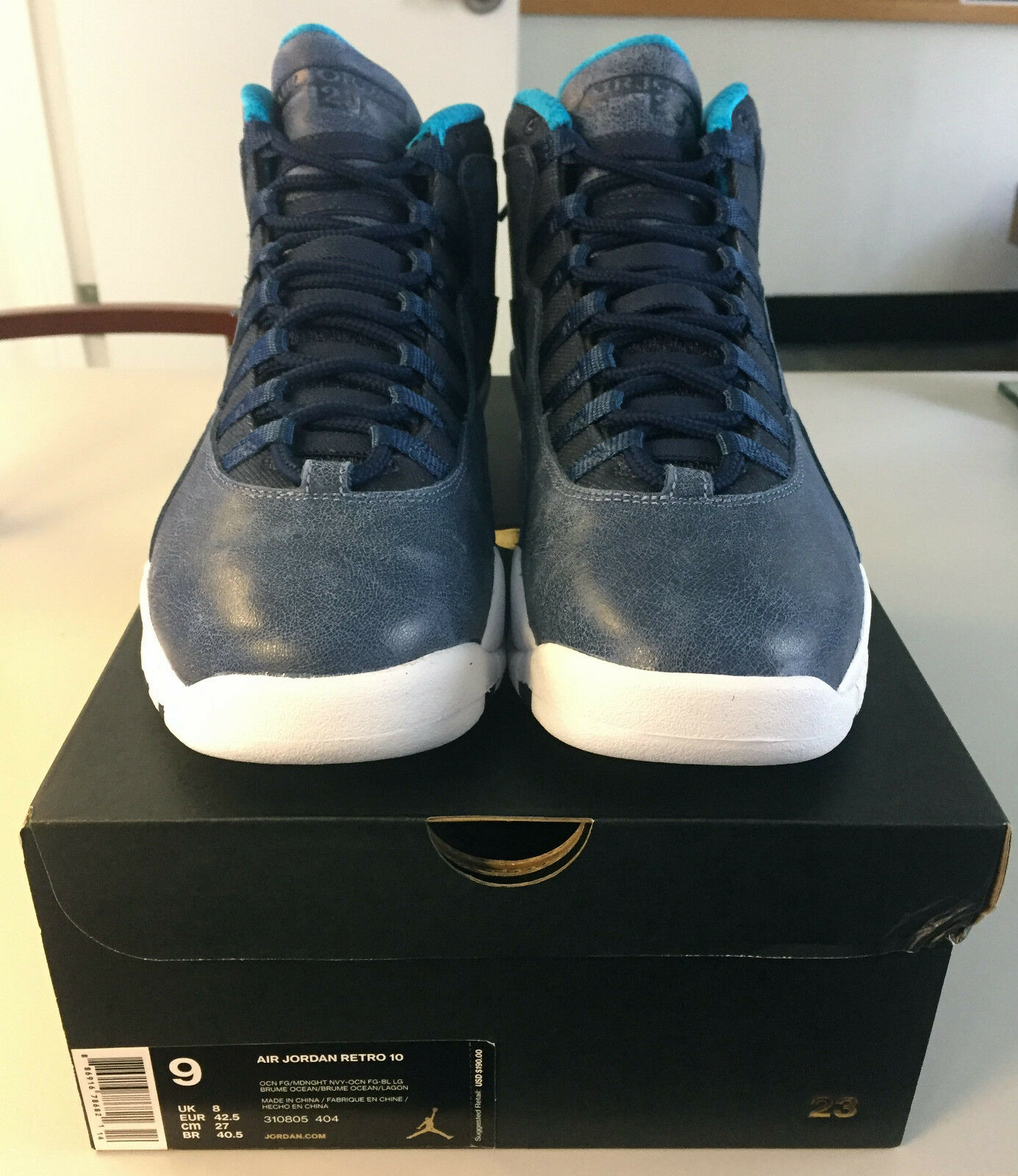 BRAND NEW 2016 Air Air Air Jordan Retro 10 X Los Angeles w  Receipt Sz 9 DEADSTOCK 5af768