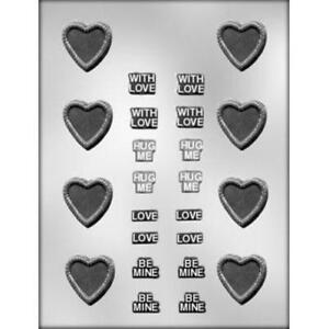 VALENTINE HEART WITH WINGS CHOCOLATE CANDY MOLD MOLDS PARTY FAVOR FAVORS CC