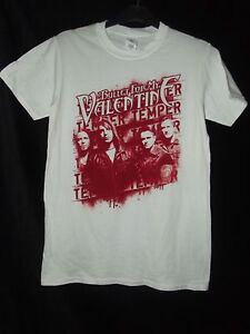 NEW-BULLET-FOR-MY-VALENTINE-TEMPER-TEMPER-WHITE-TOUR-T-SHIRT-TEE-SZ-S-M