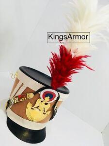 HALLOWEEN-Brown-Colour-French-Napoleonic-Shako-Helmet-by-KingsArmor
