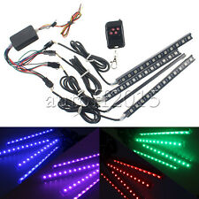 """4x RGB 7"""" Multi 7-Color LED Knight Night Rider Scanner Lighting Bar with Remote"""