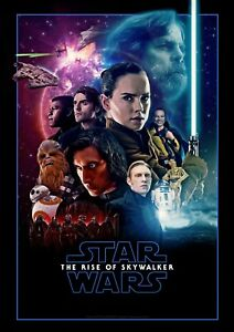 Star Wars The Rise Of Skywalker Movie Poster Sci Fi Film Canvas Wall Art Print Ebay