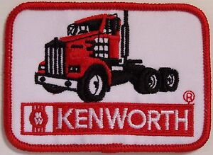 RARE-KENWORTH-TRUCKS-VINTAGE-EMBROIDERED-PATCH-WHITE-WOVEN-CLOTH-BADGE-SEW-ON