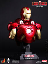 "IRON MAN 3 MARK VII (7) 9"" BUST by Hot Toys 1:4 Scale LED Lighted_902023_NRFB"