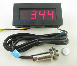 s l300 4 digital red led tachometer rpm speed meter hall proximity switch 3 Wire Sensor Wiring at bayanpartner.co